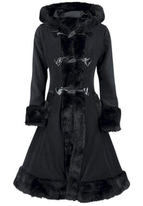 Stylish Black  Gothic Overcoat