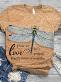 Women's Love Those We Don't Go Away They Fly Beside Us Every Day Printed Short-Sleeved T-Shirt