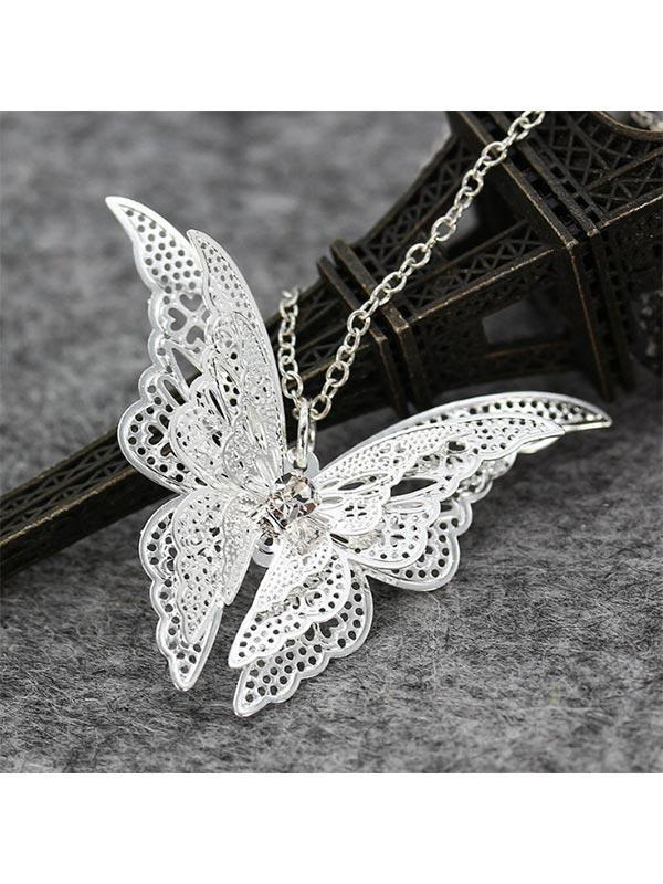 Women's Openwork Butterfly Necklace