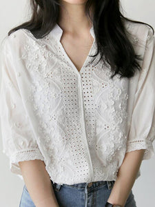 Casual Loose Short Sleeve Shirt