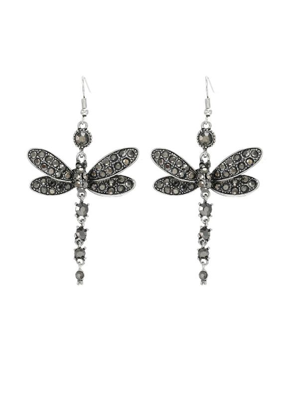 Hypoallergenic special animal dragonfly pendant earrings