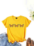 Butterfly fashion print T-shirt