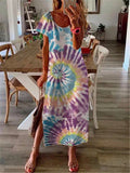 Bohemian Loose Casual Tie Dye Dress