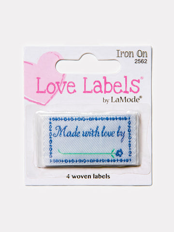 Made With Love By Iron On Labels