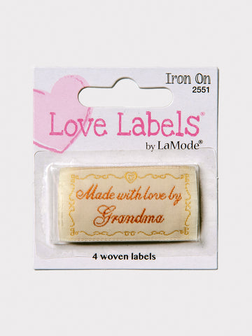 Made With Love by Grandma Iron On Labels A