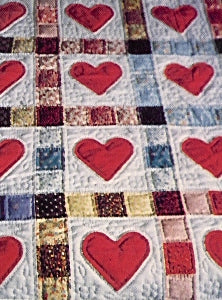 Appliqued Hearts and Patchwork Kit