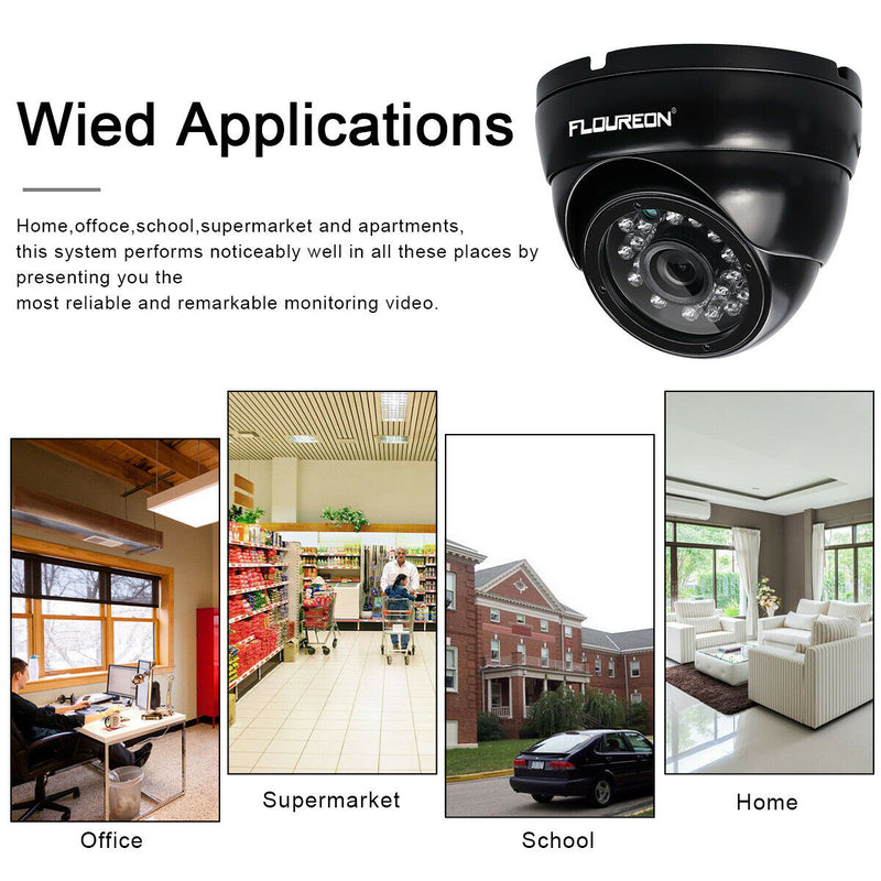 4CH HD 1080N 720P Outdoor Camera Security CCTV System DVR Recorder Kits(No Hard Drive)
