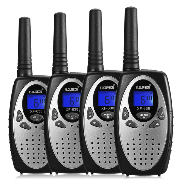 22 Channel Walkie Talkies Two Way Radios 3000M -4 Pcs Silver US
