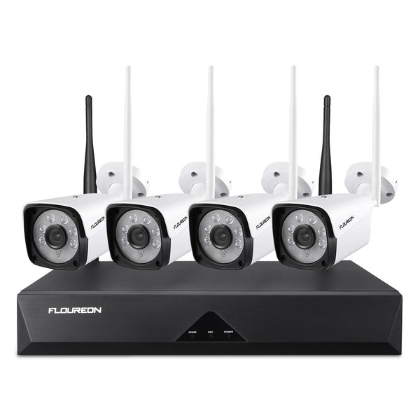 8CH 1080P Wireless NVR with 4pcs HD 1080P Wireless Cameras Surveillance Kits Auto Cascading(No Hard Drive)