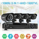 8CH 1080N DVR with 4 Pcs 1.0MP 1500TVL Cameras Surveillance Kits(No Hard Drive)
