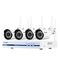 4CH Wireless WIFI 1080P NVR with 4 pcs HD 720P Cameras Surveillance Kits(No Hard Drive)