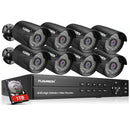 8CH 1080N HD DVR 8 pcs 3000TVL 1080P 2MP Cameras Surveillance Kits 1TB HDD