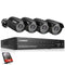 8CH 1080P 1080N AHD DVR with 4 X Outdoor 3000TVL 1080P 2.0MP Camera Surveillance Kits 1TB HDD