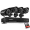 8CH 1080N DVR with 4 Pcs 1.0MP 1500TVL Cameras Surveillance Kits 1TB HDD