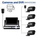 "7"" Screen 4CH 1080N AHD 5 IN 1 DVR + 4X Outdoor 1080P 2.0 MP Camera Security Kit"