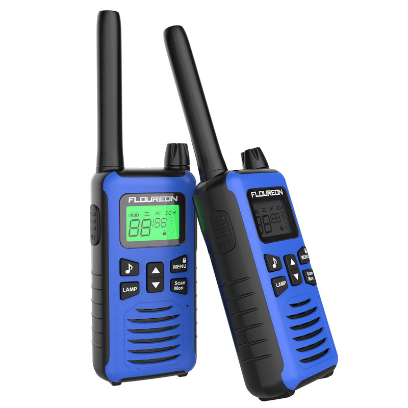 22 Channel Walkie Talkies, Adults Kids Two-Way Radio -2Pcs Blue US