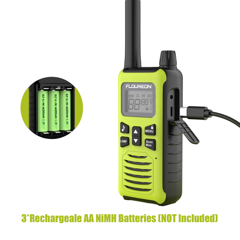 22 Channel Walkie Talkies, Adults Kids Two-Way Radio -4Pcs Green US