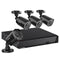 8CH 5 IN 1 1080N Video DVR Recorder Kits 4X HD 1080P Invisible IR Cameras (No Hard Drive)