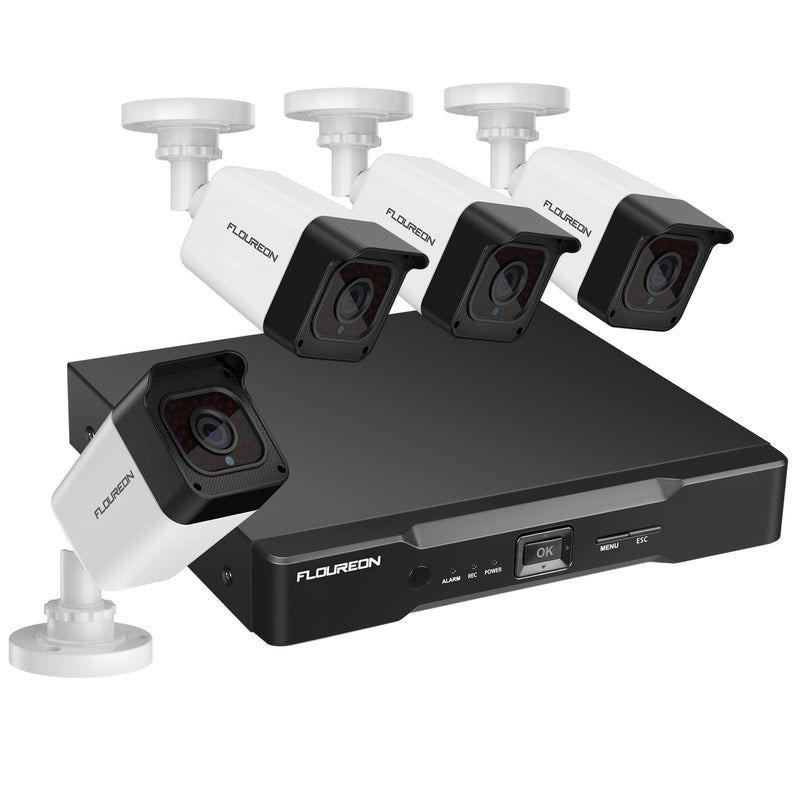 8CH True 1080P XPOE Surveillance Kits with 4x HD 1080P XPOE Cameras Human Detection Intelligent Analysis(No Hard Drive)