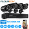 8 CH DVR 1080N AHD + 4 Outdoor/Indoor 1500TVL Cameras Kits(No Hard Drive)