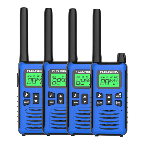 22 Channel Walkie Talkies, Adults Kids Two-Way Radio -4Pcs Blue US