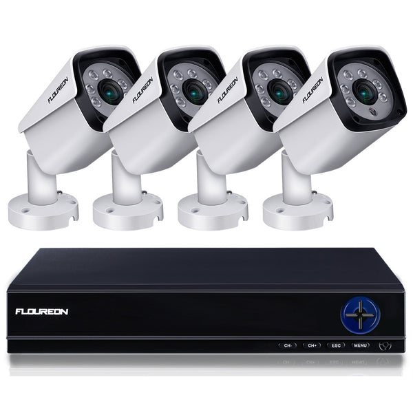 8 Channel 5 in 1 5MP DVR Video Recorder with 4x 5MP HD Human Detection Security Cameras