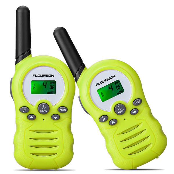 8-22 Channel Walkie Talkies License-FREE - FR388A 2pcs Lime-green