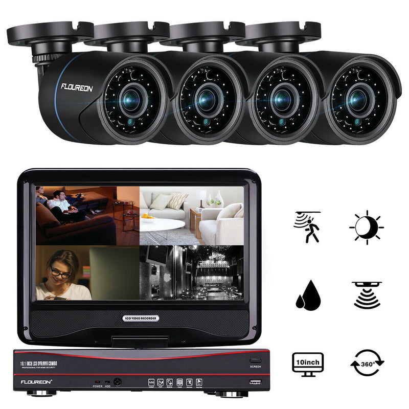 "4CH 10"" Screen 1080P 1080N AHD 5 IN 1 DVR with 4 X 1080P 2.0 MP Camera Security Kits"