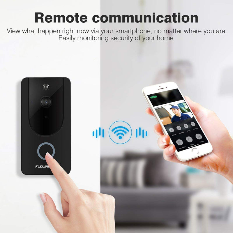 HD 720P Wireless Video Doorbell Camera Home Security Camera with Chime