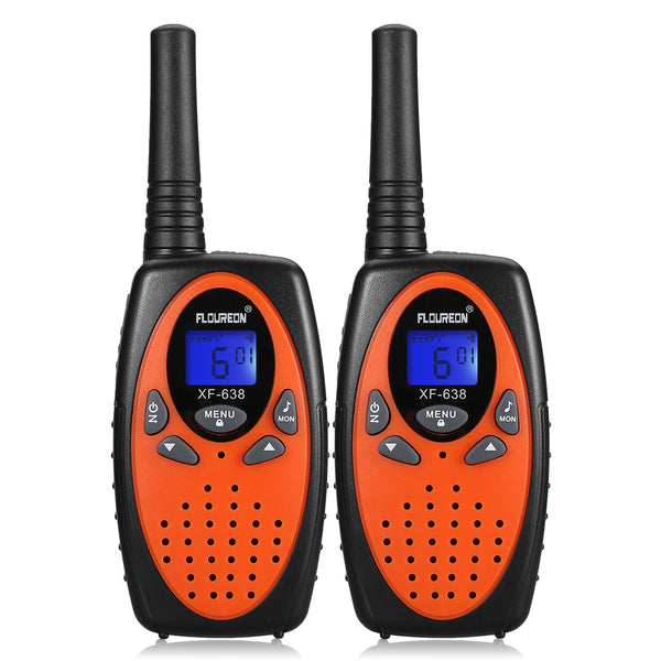 8 Channel Walkie Talkies Two Way Radios - 2Pcs Orange EU