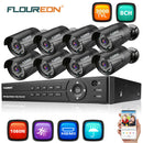 8CH 1080N HD DVR Kits 8pcs 3000TVL 1080P 2MP Cameras Surveillance Kits(No Hard Drive)