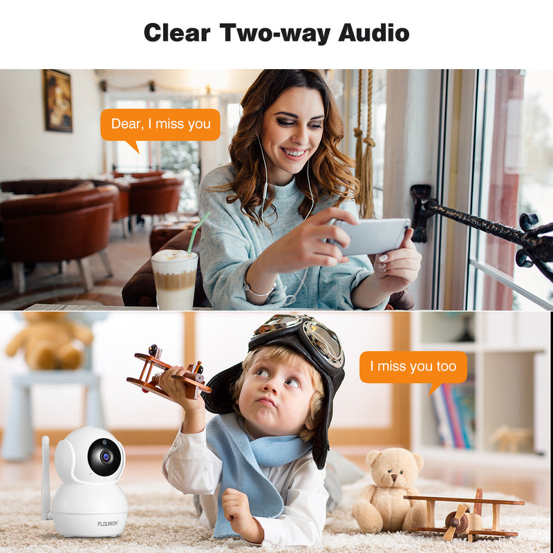 HD 1080P Wireless IP Camera WiFi Security Camera Indoor Pan/Tilt Human Motion Detection