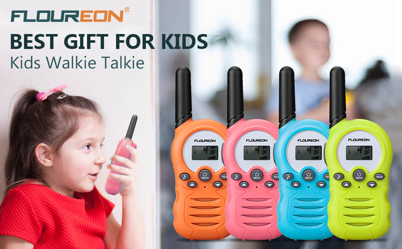8-22 Channel Walkie Talkies License-FREE - FR388A 2pcs Pink