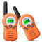 8-22 Channel Walkie Talkies License-FREE - FR388A 2pcs Orange