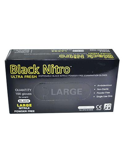 NITRILE - POWDER FREE BLACK GLOVES - Large - United Cleaning Supplies