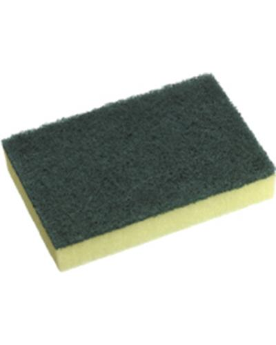 Oates No. 110 Green Scour Yellow Sponge - 10 Pack - United Cleaning Supplies
