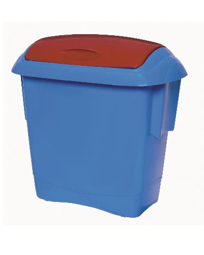 Oates Kids Bin - Blue Bin with Red Lid 13L - United Cleaning Supplies