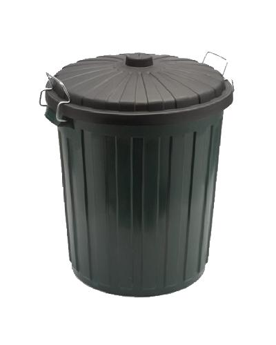 Oates Garbage Bin Plastic w/ lid - Green - United Cleaning Supplies