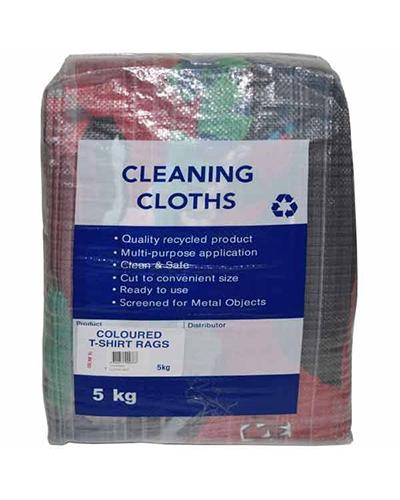 COLOURED T-SHIRTS RAGS 5KG - United Cleaning Supplies