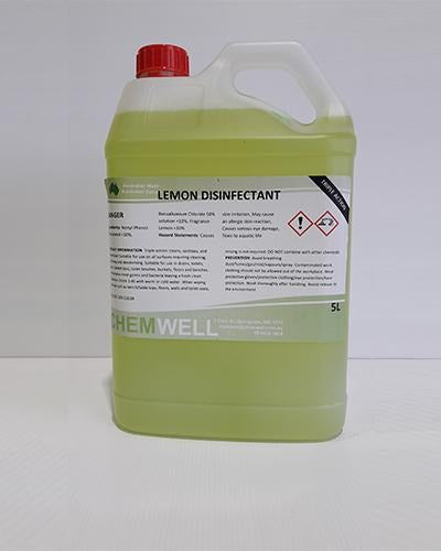 Chemwell Lemon, Disinfectant, Green - United Cleaning Supplies