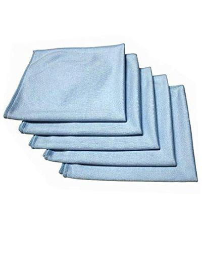 Cleanstar MICROFIBRE GLASS CLEANING CLOTH 5pk BLUE - United Cleaning Supplies