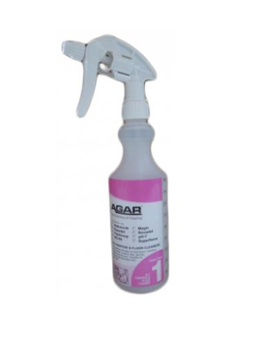 AGAR - NO.1 BOTTLE WITH TRIGGER 500ml - COMPLETE - United Cleaning Supplies