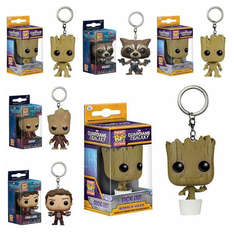 Chaveiro Funko Pop Keychain Guardians of the Galaxy Personagens