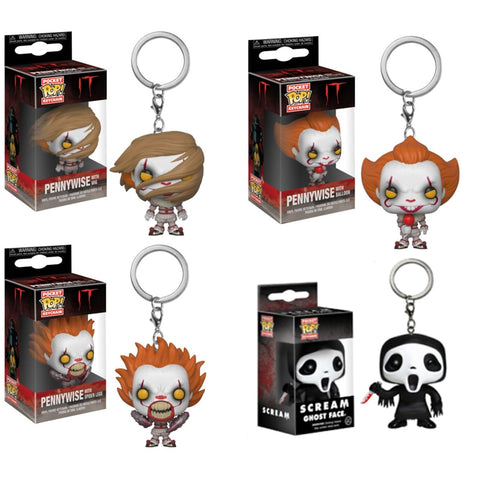 Funko POP Chaveiro Keychain Pennywise e Scream