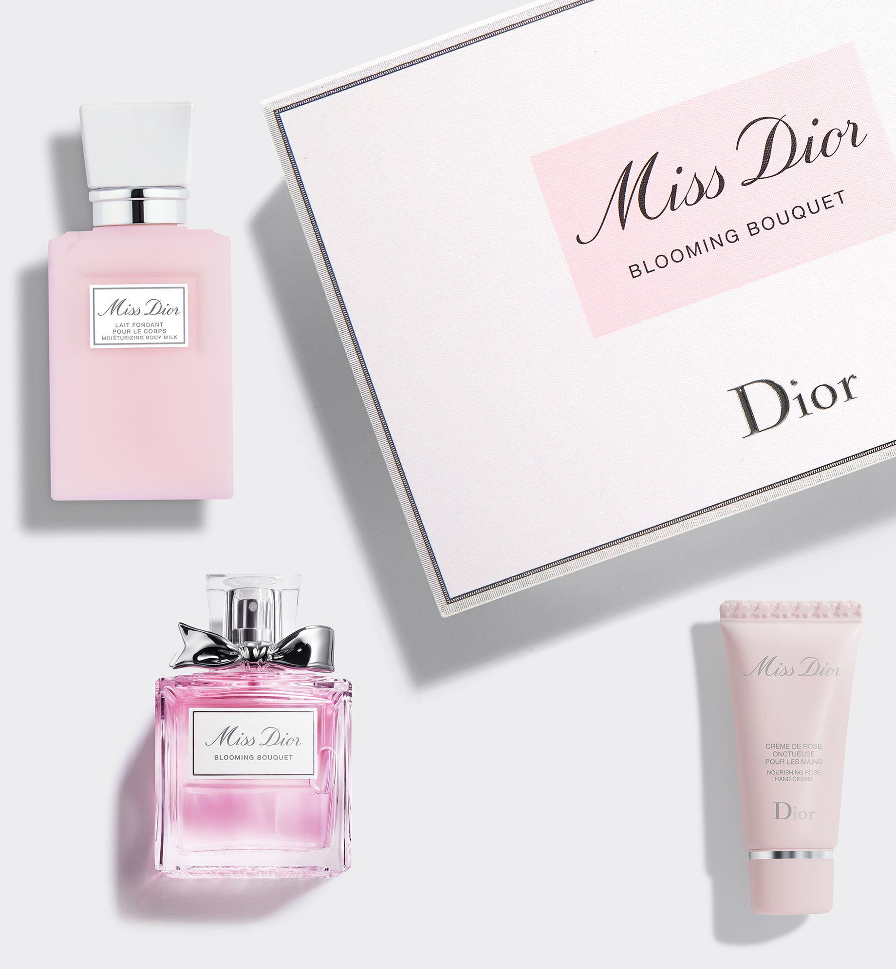 MISS DIOR BLOOMING BOUQUET 50ml OFFER: Indulge yourself with a complimentary body lotion and hand cream