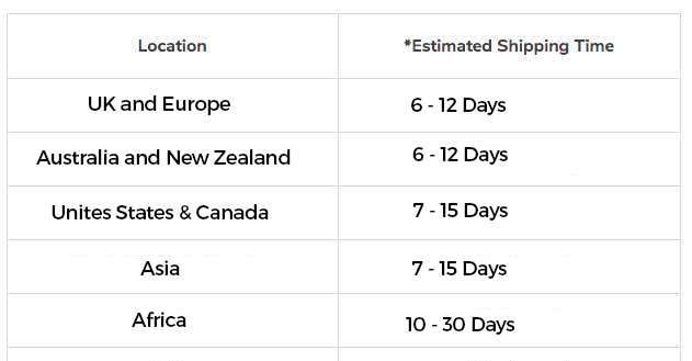 Tech Magnet Shipping Times-Jan 2021