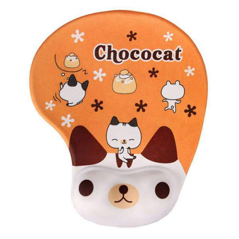 Tapis de Souris Ergonomique Gel Chat Chocolat | CrazyWorth