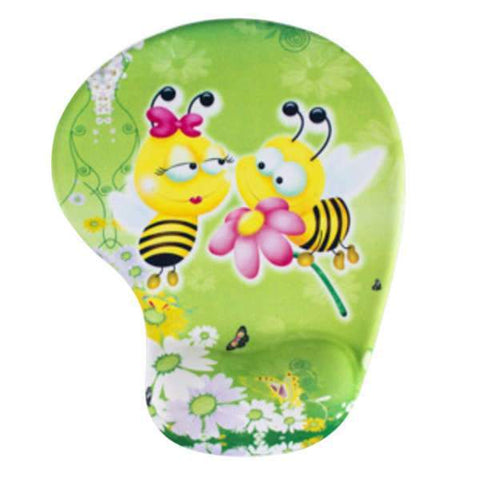 Tapis de Souris Ergonomique Gel Couple d'Abeille | CrazyWorth