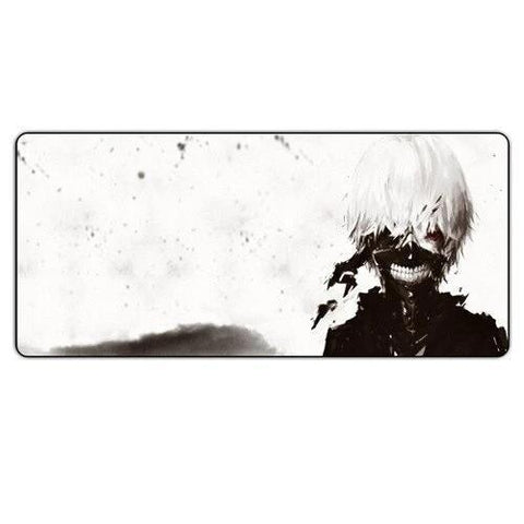 Tapis de Souris Gamer Manga Kaneki Ken Fond Blanc | CrazyWorth