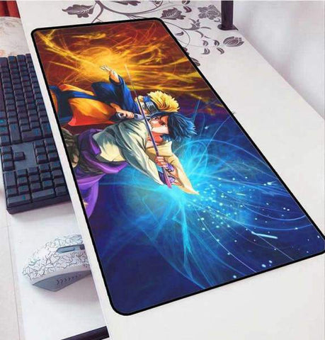 Tapis de Souris Gamer Manga Naruto Vs Sasuke | CrazyWorth